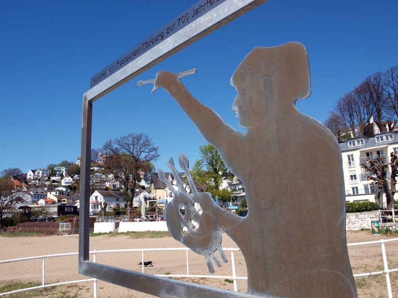 Blankenese Skulptur am Hafen