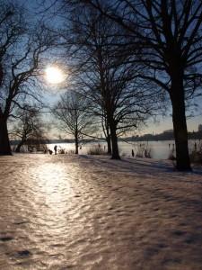 Winter Schnee Alster